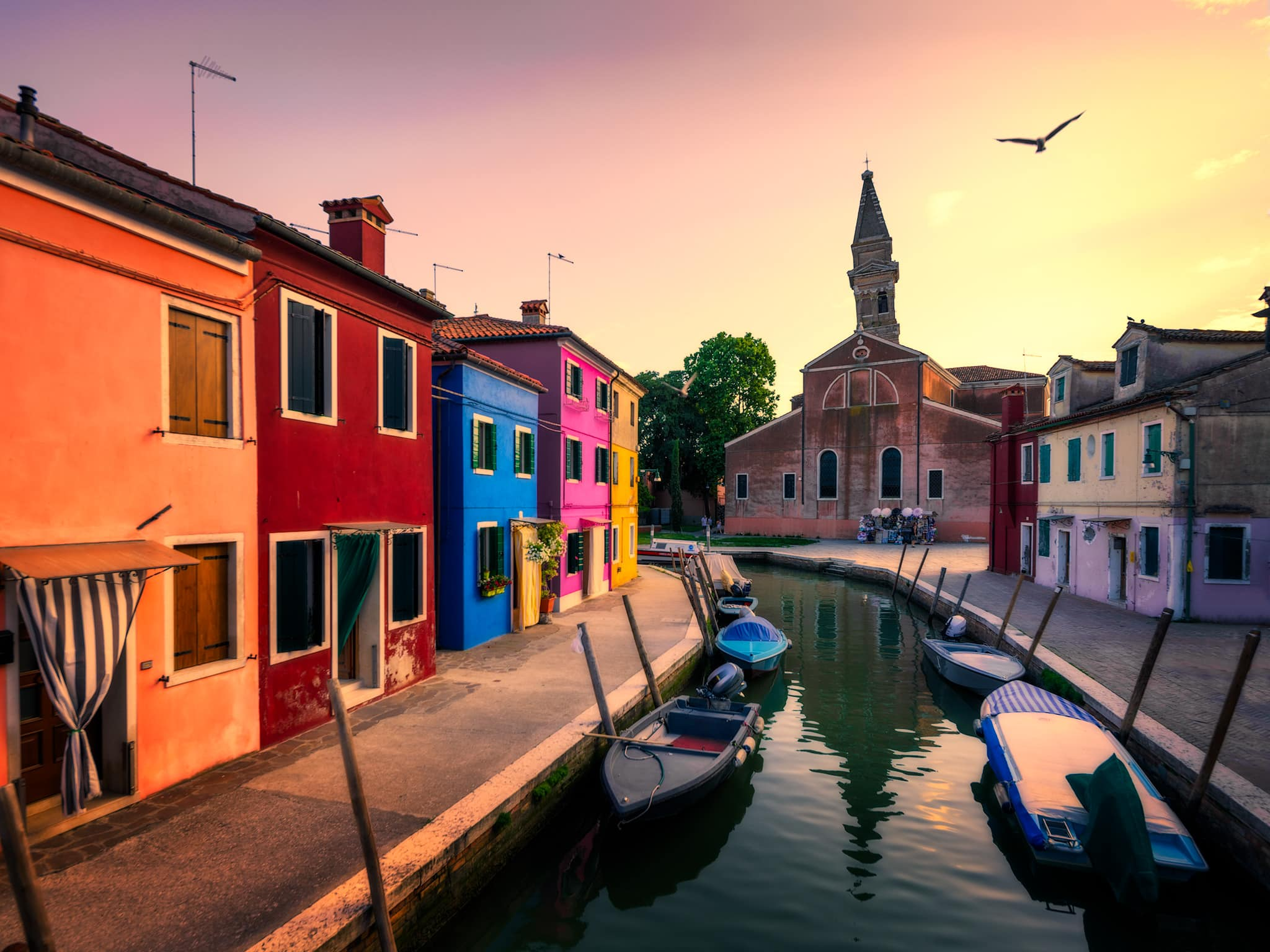 Burano and San Martino with the Leaning Tower | Venice, Italy