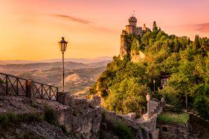Republiek San Marino - foto van de muren en de toren