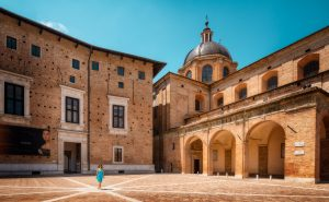 The Urbino Cathedral (Urbino Duomo) in Italy