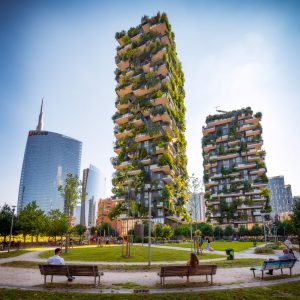 "Milano Bosco Verticale (""Vertical Forest"") in Italy."