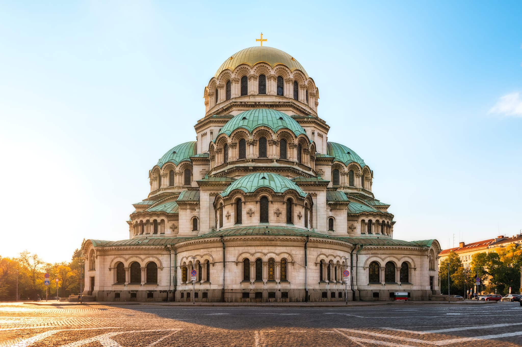 Alexander Nevsky Cathedral in Sofia, Bulgaria. An example of a Byzantine Revival style of architecture.
