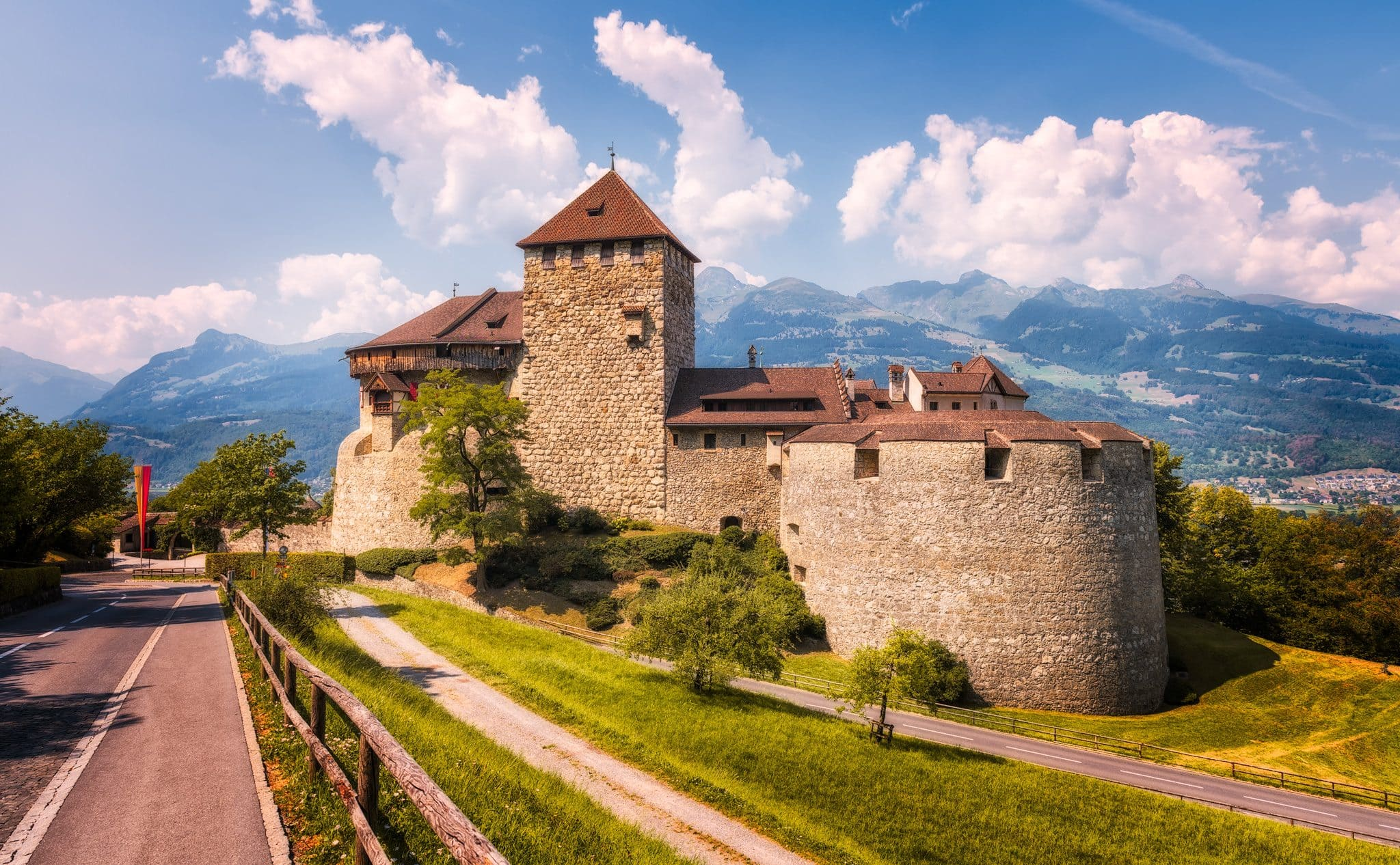 Liechtenstein – Vaduz Castle. A Summer visit in the Alpine country.