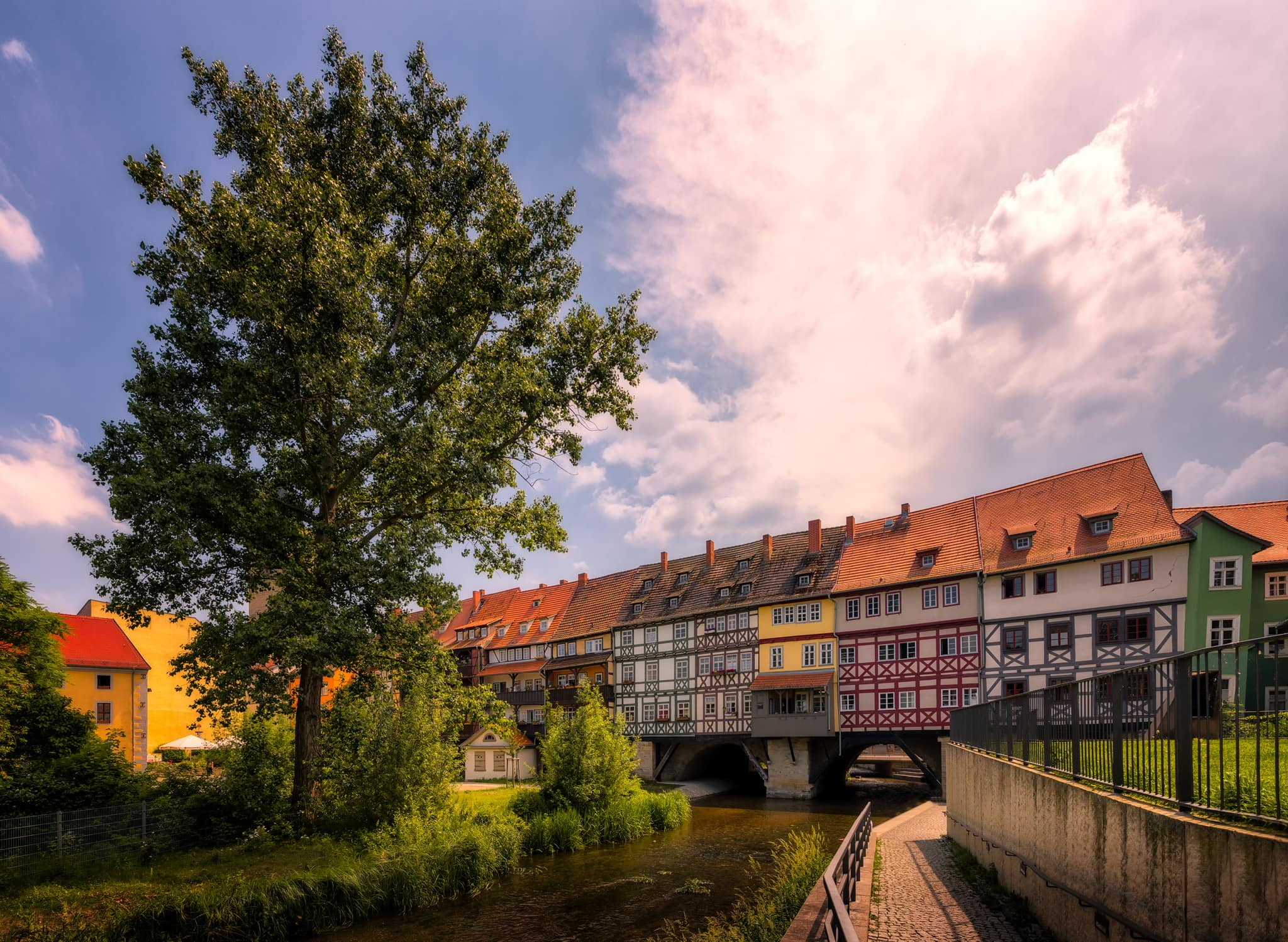 Krämerbrücke (Merchants Bridge) in Erfurt, Germany.