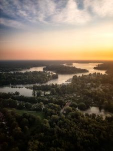 View of Lake Tegel in Berlin, Germany
