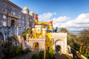 Pena Palace in Sintra in Romantism style; Portugal