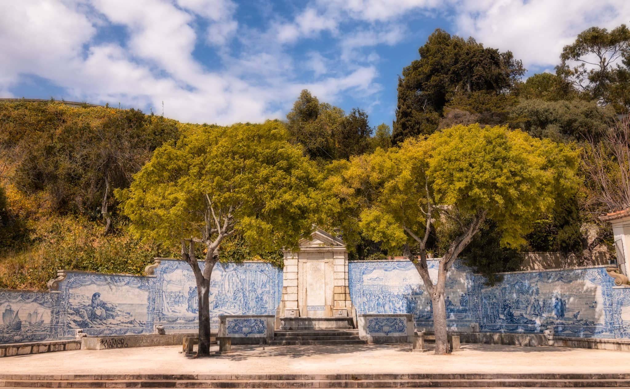 Picture of Azulejo in Lisbon; Portugal