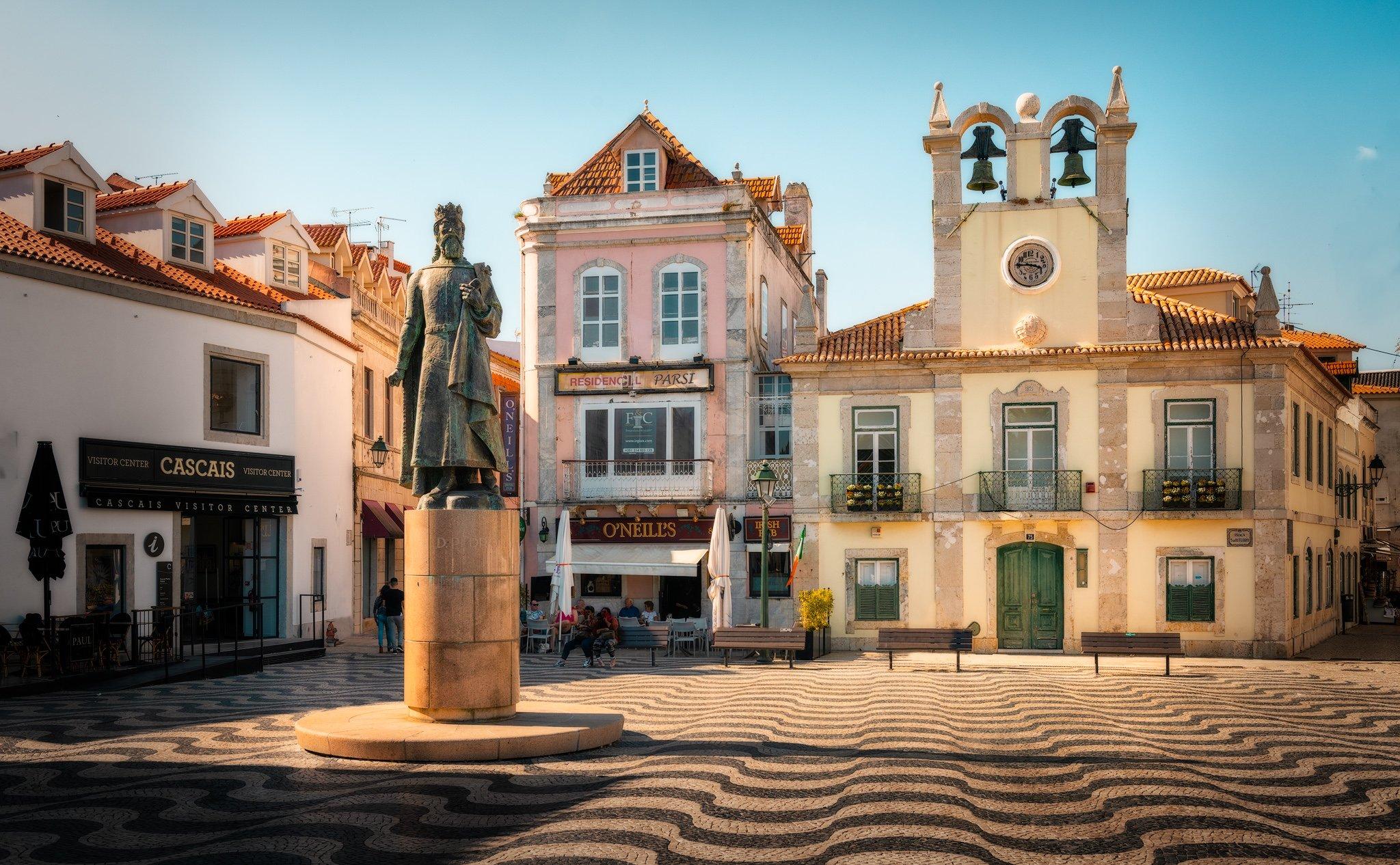 Cascais Stadtzentrum - Der Platz des 5. Oktober; Portugal.