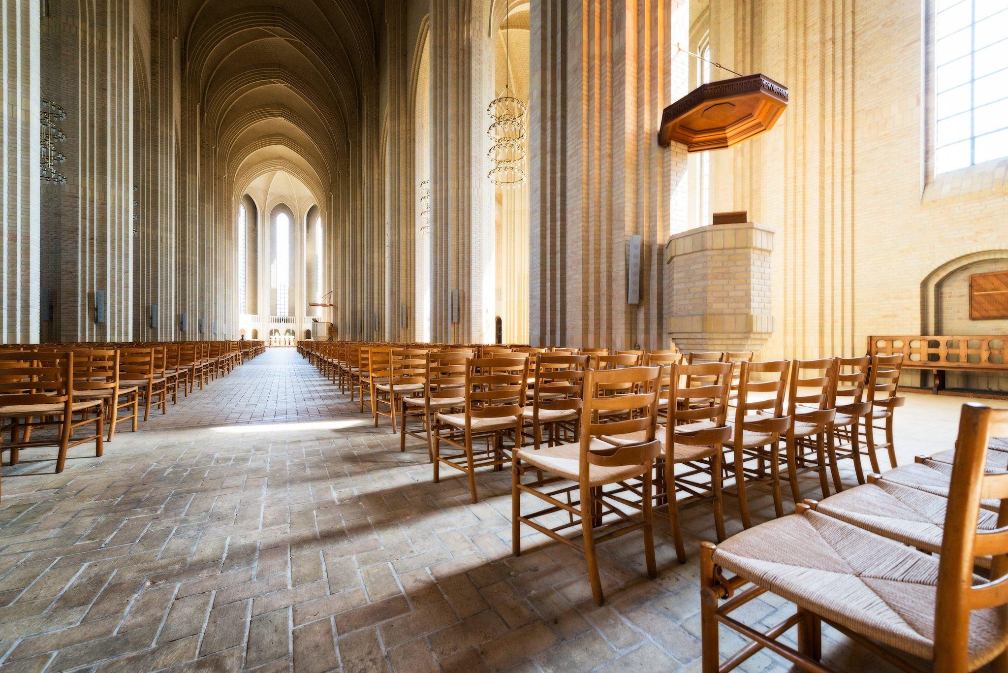 Grundtvigskirche - seltene expressionistische Architektur. Kopenhagen, Dänemark
