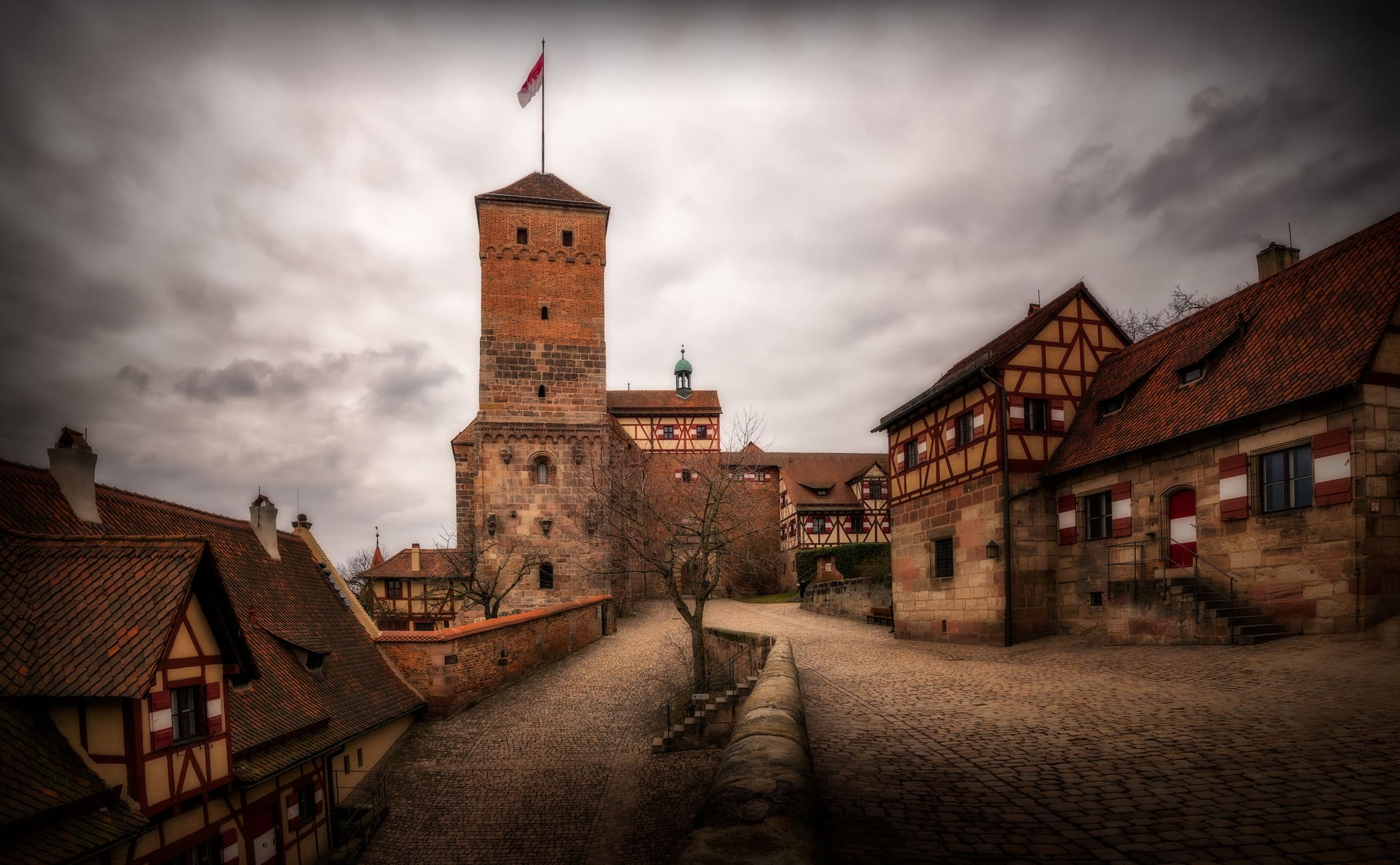 "The Nuremberg Castle: Imperial Castle (Kaiserburg), Burgraves' castle (Burggrafenburg) and ""Imperial City""; Germany"
