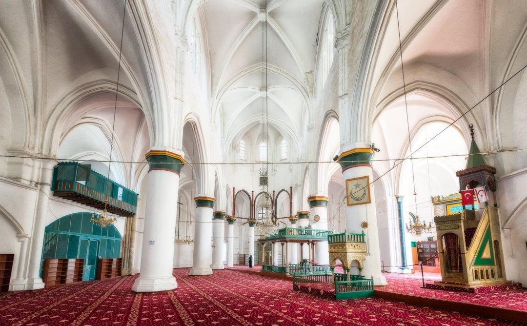 A photo of interior of Selimiye Mosque in Nicosia; Cyprus