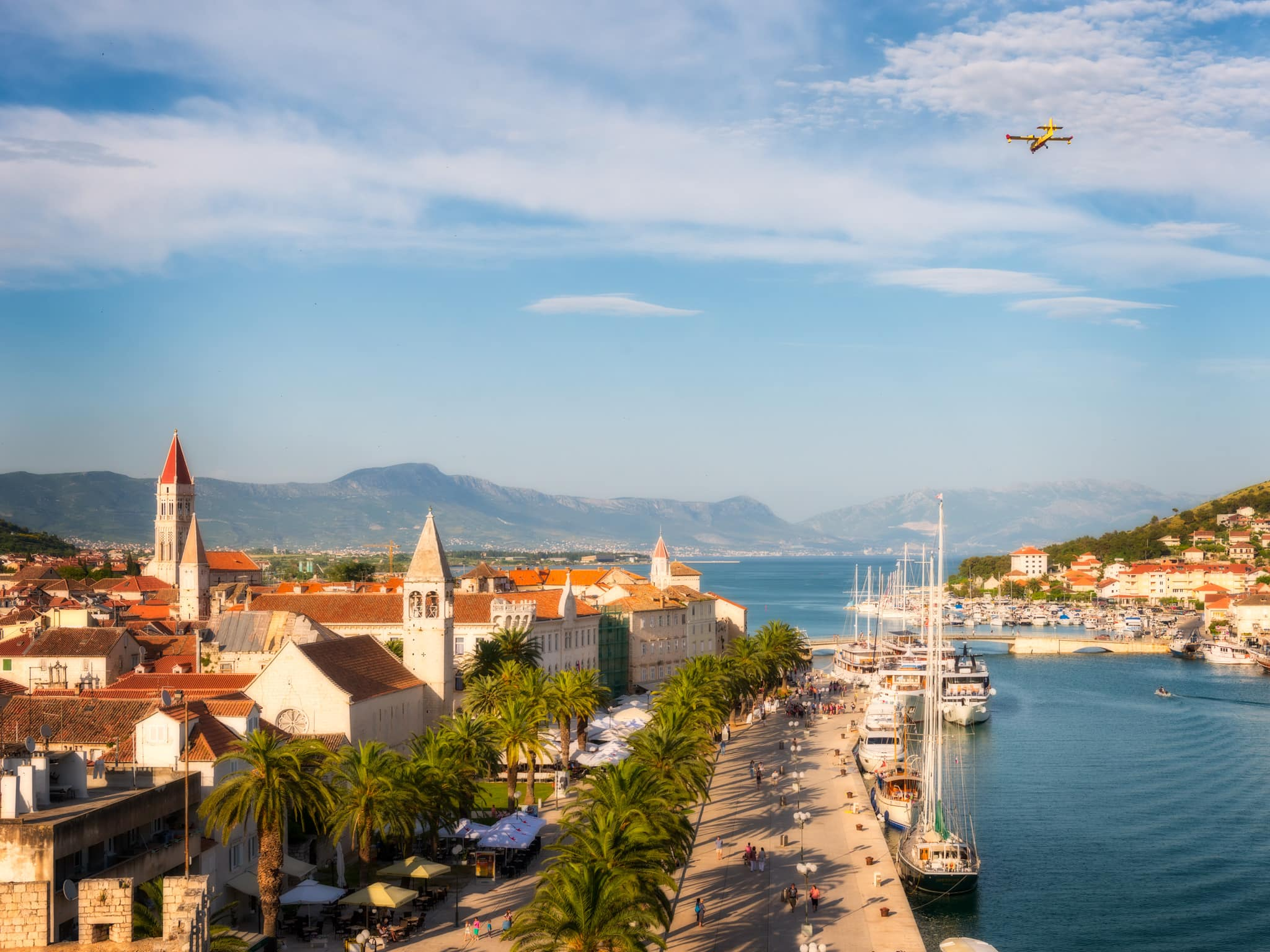 Historical town Trogir in Croatia