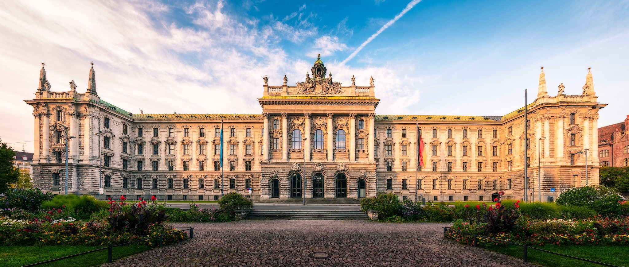 Justizpalast (Palace of Justice) in Munich in Bavaria, Germany