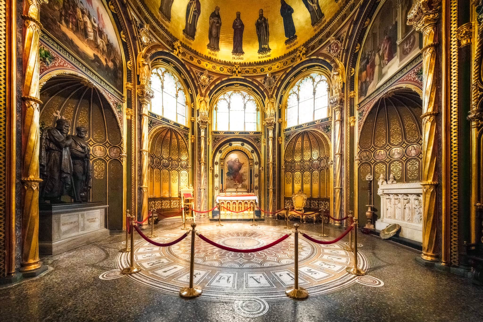 Golden Chapel in Poznan Cathedral in Ostrów Tumski; Poznan, Poland