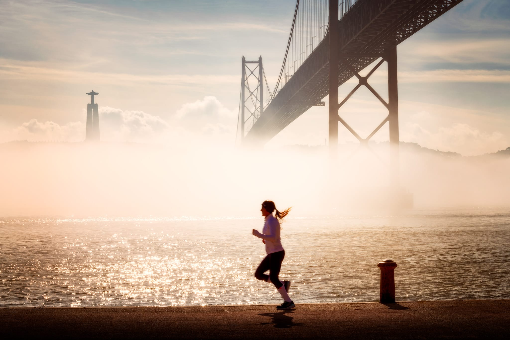 Sports and Half-marathon in Lisbon; Portugal