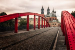 Bishop Jordan Bridge with Cathedral Island in Poznań, Poland