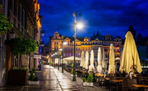 Nightlife in Poznan; Poland