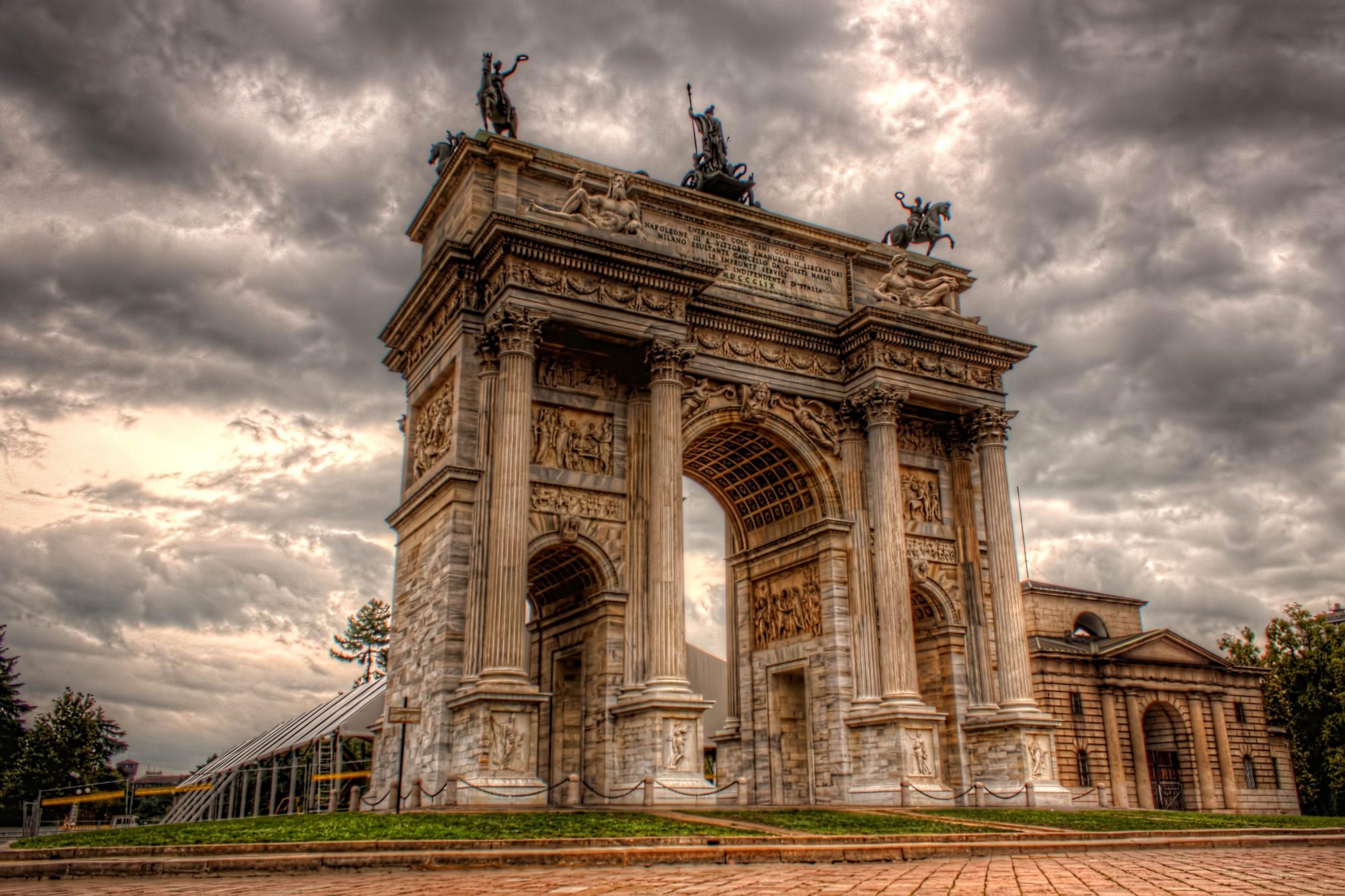 Arco della Pace, in Milan, Italy