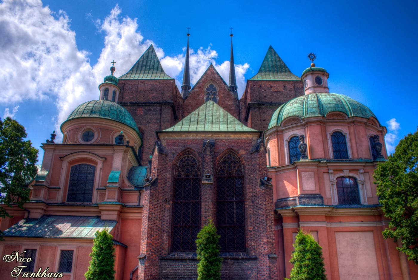 Back of Wroclaw Cathedral in Poland