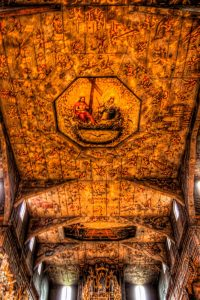Ceiling of the Church of Peace in Swidnica in Italy