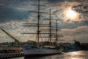 Dar Pomorza in Gdynia from the Waterside, Poland