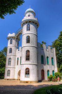 Lustschloss on Peacock Island in Berlin, Germany.