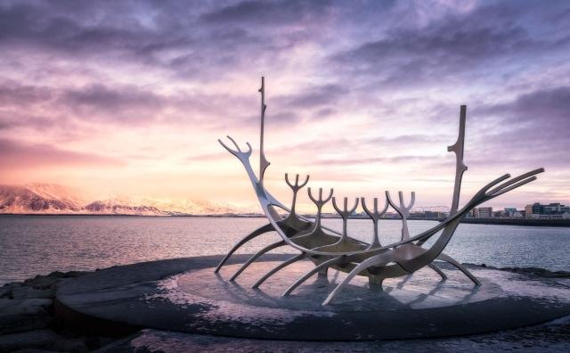 Reykjavik, Iceland - Sun Voyager during Sunset