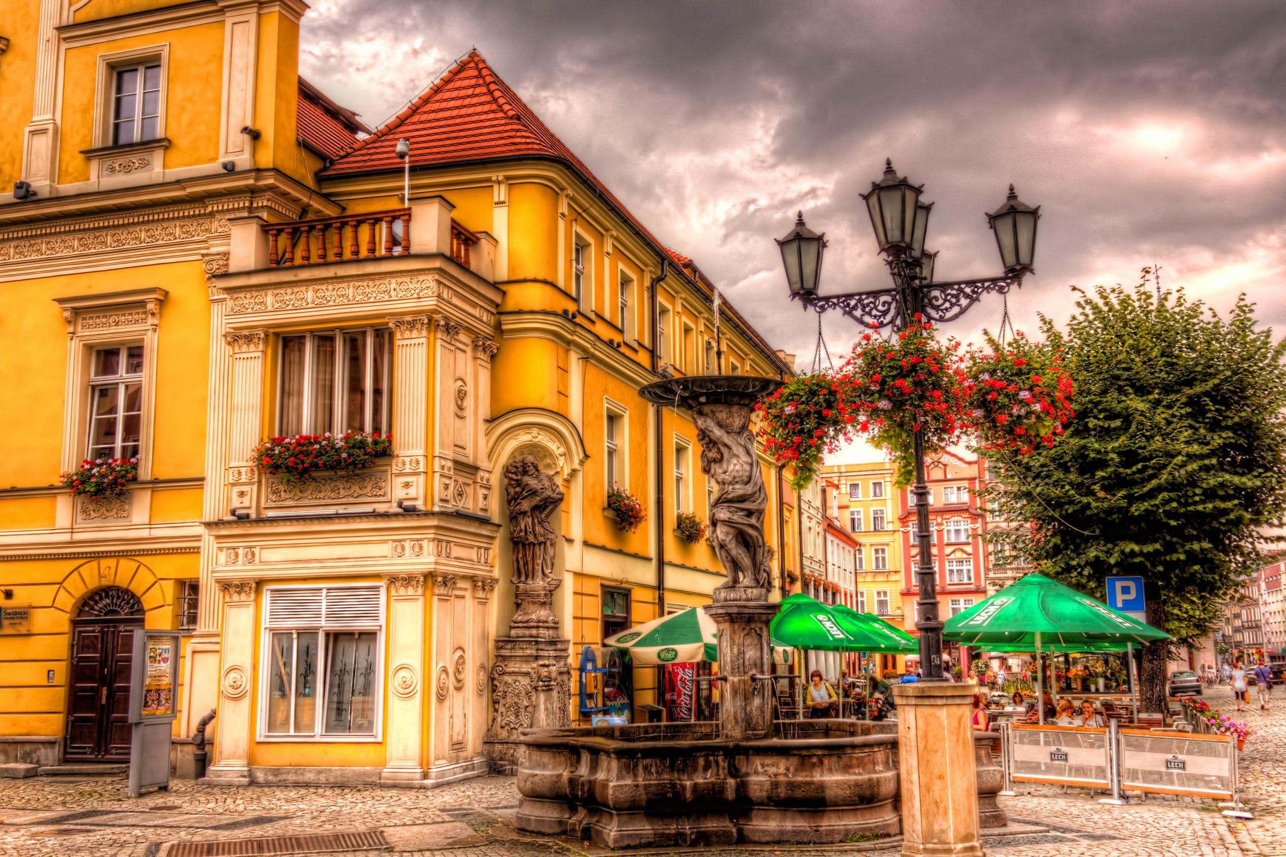 Market Rynek Świdnica in Poland