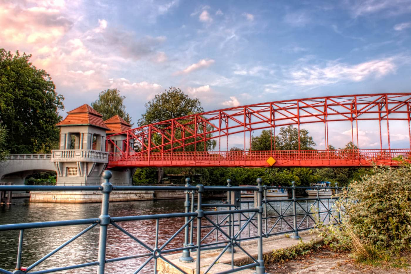 Bridge Sechserbrücke, Tegel in Germany