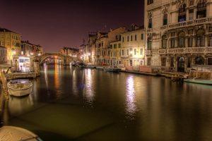 Venice Crea at Night, Italy