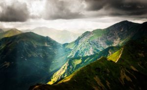View on Tatra Mountains from Kasprowy Wierch; Poland in summer