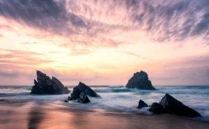 Praia da Adraga at sunset - Portugal