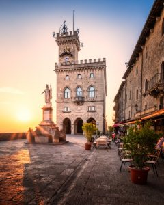 Palazzo Pubblico in the center of the city-state of San Marino