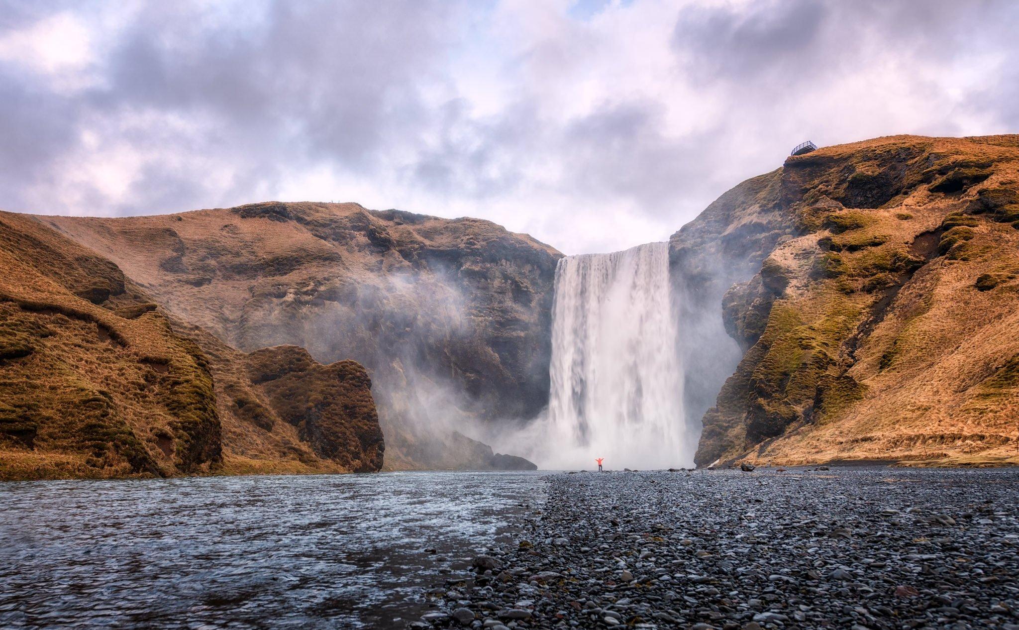 Skógafoss Waterfall; Seljalandfoss on Golden Circle Route - Iceland