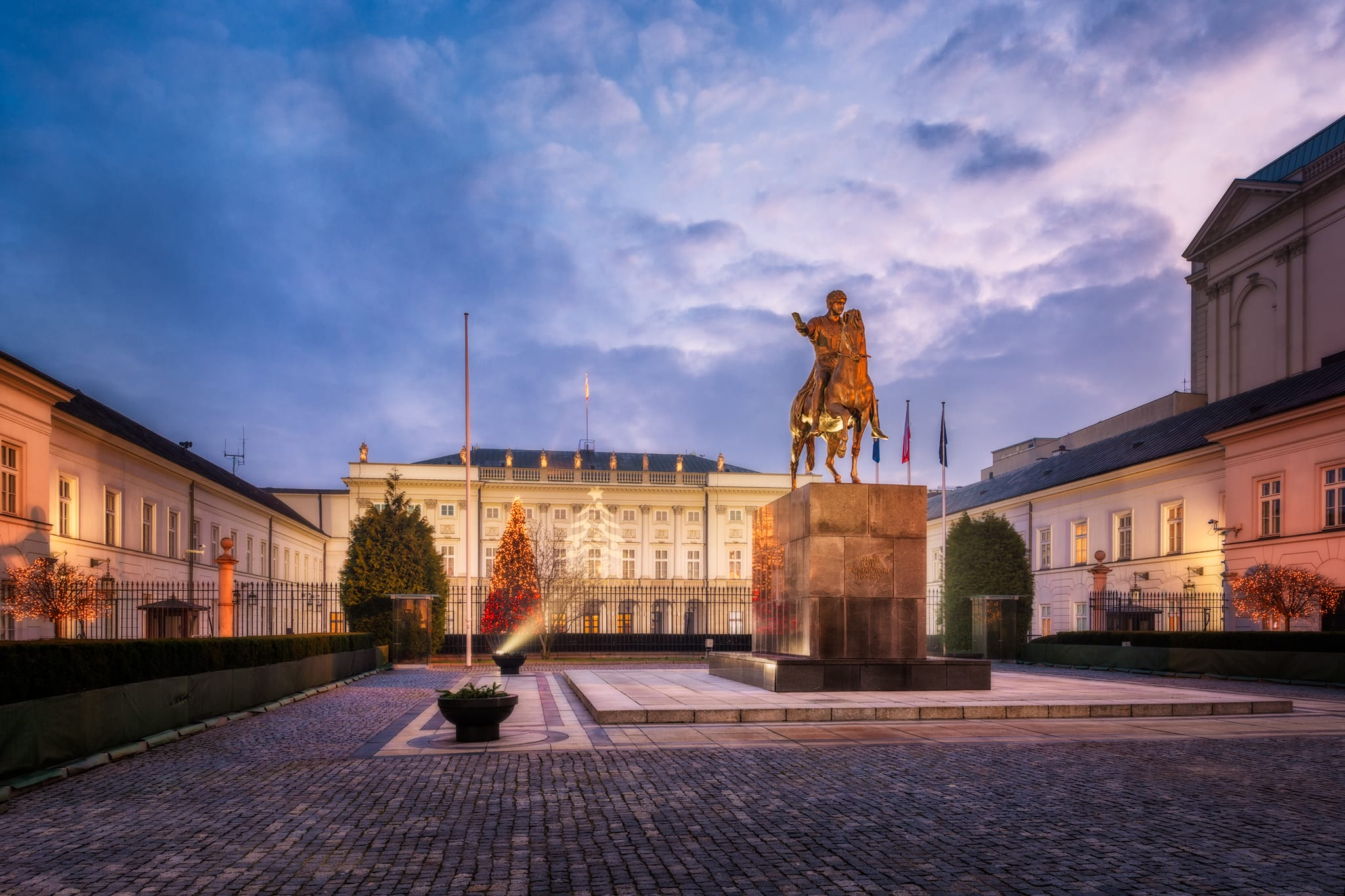 Presidential Palace in the center of Warsaw, capital of Poland
